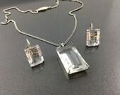 Vintage Deutsche Werkbund Jewelry Set, DWB Silver, Arts & Crafts, Modernist, Expressionist. German Silversmith.