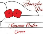 Custom order for 1 bench seat cover with piping and foam - local order delivery