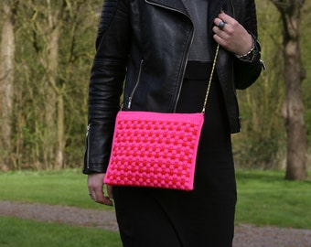 Pink Crossbody Bag, Everyday Bag, Travel Purse, Original Stylish Bag, Crossbody Sling Bag, Small Purse, Festival Bag, Casual Bag