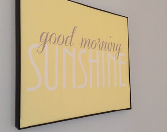 Good Morning Sunshine. Digital Print. Yellow Nursery Art. Sunshine Nursery. Yellow and Gray Art. Gallery Wall Nursery. Neutral Nursery Decor