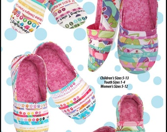Mommy & Me Slippers, Paper Pattern Listing for Women's and Children's Fun Slippers