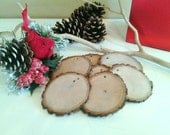 6 Gift tags - Tree slices - Wood tree slices - Holiday ornaments - Holiday decor - Christmas ornaments - Tree ornaments - diy projects