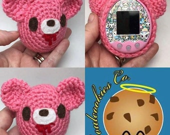 Made to Order Gloomy Bear Crochet Tamagotchi Cover