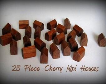 25 Piece Miniature CHERRY DIY Wood House Set ONE Size