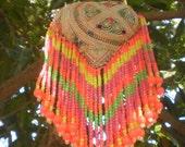 Hmong Tribal  Vintage Textile Dangle Decoration Handmade