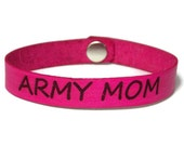 Military Mom, Laser Engraved Bracelet, Leather Military Bracelet, Military Gifts, Army Mom, Navy Mom, Air Force Mom, Marine Mom