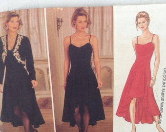 Party Dress Pattern - Butterick 3758 - Rimini - sizes 12-14-16 - Easy Dress and Jacket - DIY trendy fashion -  Unused & factory folds