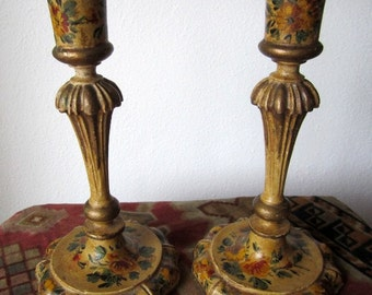 Vintage COUNTRY FRENCH Candle Sticks, Holders