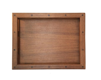 Dansk Teak Railed Bar Tray, Serving Tray, Jens Quistgaard