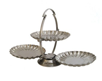 Chrome Folding Server, Tiered Serving Tray