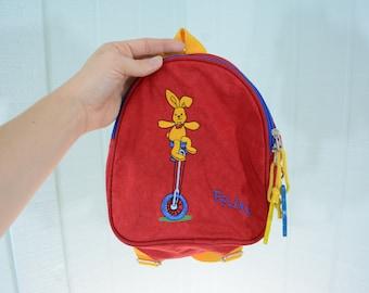 Adorable Tiny 1978 Preschool Felix Rabbit Backpack Made in Germany by Die Spiegelburg