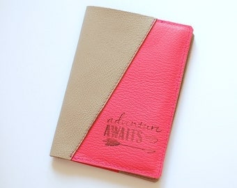 Personnalisé couverture en cuir passeport, passeport en cuir véritable, porte-passeport, portefeuille de voyage, le titulaire de carte d'identité en cuir véritable