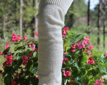 Long Leg Warmers 28 inches Off White