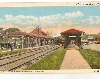 Maine Railroad Etsy