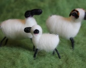 Wool Wrapped and Needle Felted Sheep Lamb, 1 Sheep Pick Your Color Handmade Choice of Color, Christmas Ornament