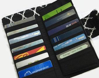 Credit Card Holder, Credit Card Wallet, Women's Card Wallet, Gift Card Holder, Wallets for Women, Black Wallet