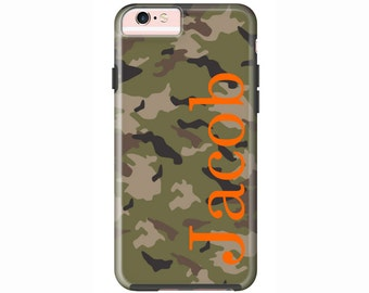 Custom iPhone 7 or iPhone 7 Plus Cases | Personalized Case Mate Tough or Barely There cases iPhone 6, iPhone 6 Plus, iPhone SE - Camouflage