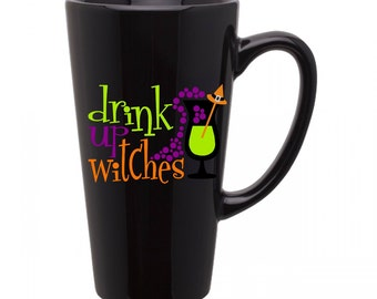 Halloween Coffee Cup - Drink Up Witches - Black Coffee Cup - Halloween Cup -  16 oz cup -Funny Coffee Cup - Funny Cup