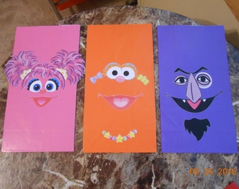 Sesame Street Favor Bags-Sesame Street Party Bags-Sesame Street Goody Bags-Sesame Street Party Favor Bags-Sesame Street Birthday Party