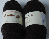 2 skeins Jamieson and Smith Shetland wool 2ply jumper yarn