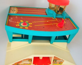 SALE: Fisher Price Little People Play Family Airport  1972 Air Port 1970's Toy Children, Kids, Toddler
