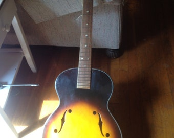 1950s Recco Archtop Guitar for restore -