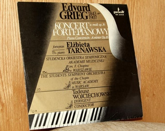Edward Grieg - Piano Concerto in A minor Op. 16 - Pronil SX 2068 - Vintage 33 1/3 LP Record - 1982