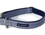 The First Mate Webbing Dog Collar with Metal Hardware