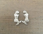 Mermaid Earrings small silver studs