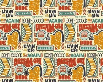 Riley Blake - Keep On Groovin' by Sugar Sisters Design - Groovin Main Cream