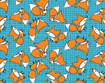 Camelot - Flannel Prints - Foxes - Blue