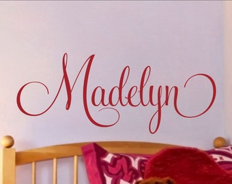 Nursery Wall Decal Girls Name Decal Nursery Name Decal Girls Name Wall Decal Wall Decor  Nursery Wall Decor Girls Bedroom Personalized Name