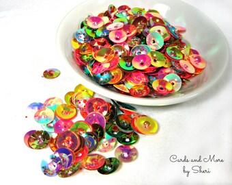 Round Multicolor 10mm Sequins Pailletes Confetti