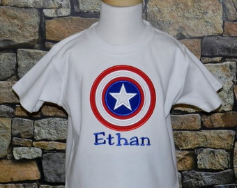 Captain America Shirt / Personalized / Super Hero