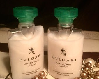 Bvlgari Au the Vert Green Tea • Conditioner•  lot of 2 each:  1.3oz EACH • Total of 2.6oz• Fresh Unused 1992