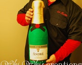 Giant Plush Champagne Bottle with Custom Label
