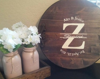 Wooden Tray Rustic Decorative Wooden Serving Tray Personalized Wedding Gift Bridal Shower Gift ottoman Housewarming bath farmhouse