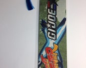 Upcycled G.I. Joe and Street Fighter Comic Book Bookmark