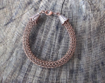 Viking Knit Copper Bracelet