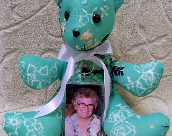 Memory Bear,Keepsake Bear,Memorial Bear,Handmade Custom Memory Bear