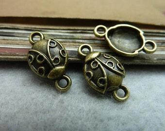 50pcs 9*12mm antique bronze beetle  insect charms pendant C7232