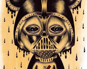 MOUSE DARTH VADER (limited edition print) 1/50