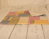 Twin Bed Quilt, Lap Quilt, Buggy Barn, Butterfly Quilt, Finished Bed Quilt, Twin Bedding, Cottage Chic Quilt, Pastel Quilt, Homemade Quilt