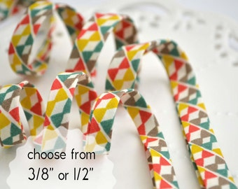 "bowties - double fold, bias tape - 3 yards, CHOOSE 3/8"" or 1/2"" wide"