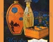 Vintage Art Nouveau BLUE POPPY French Perfume Bottle FLOWER Design Box Beauty Paris Art Advertising Poster Print