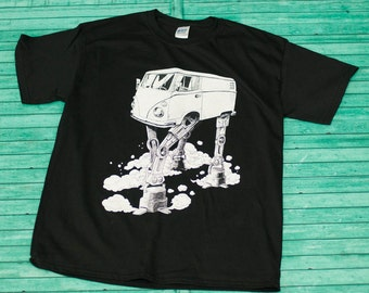 Volkswagen AT-AT Walker - Star Wars - VanWars Bus - Mens Shirt