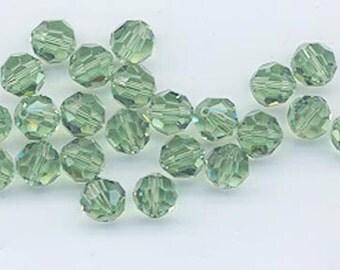 24 gorgeous Swarovski crystals - art 5000 - 6 mm - erinite (no AB)