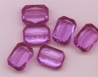 16 beautiful vintage West German purple lucite beads - 18 x 13 mm