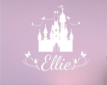 20% OFF Personalized wall decal princess name wall decal nursery playroom bedroom babies