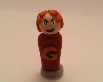 George Weasley Handmade Polymer Clay Mini Figure - Harry Potter